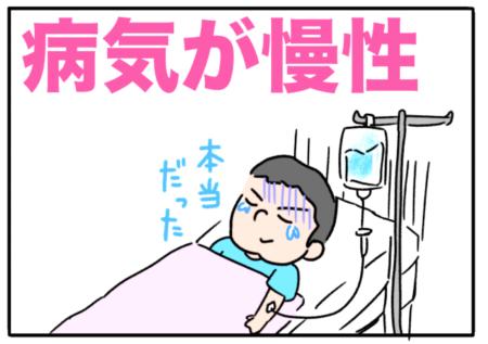 chronic(病気が慢性の)