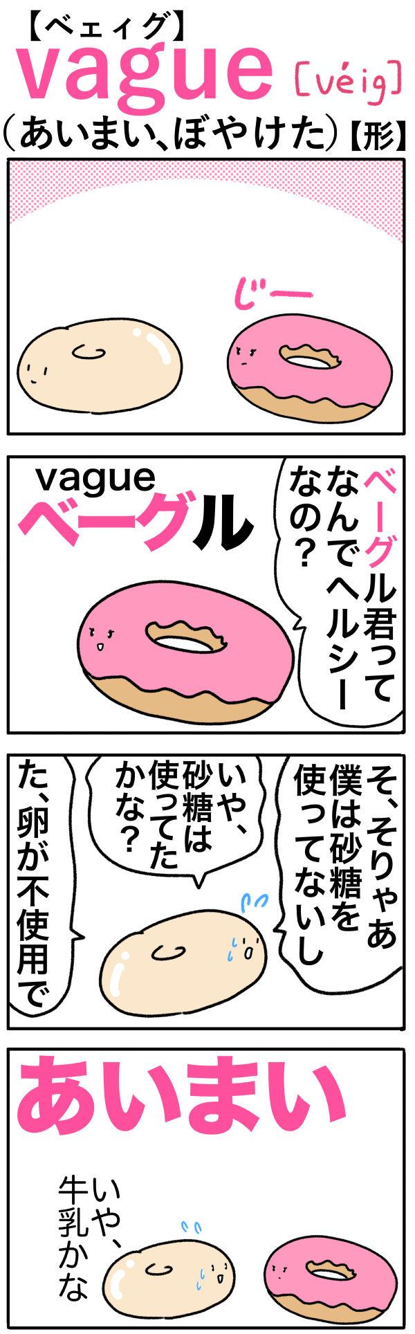 vague(あいまい、ぼやけた)