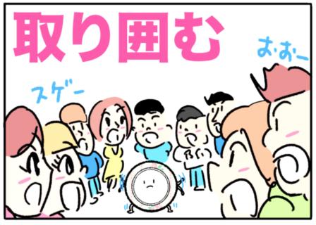 surround(取り囲む)