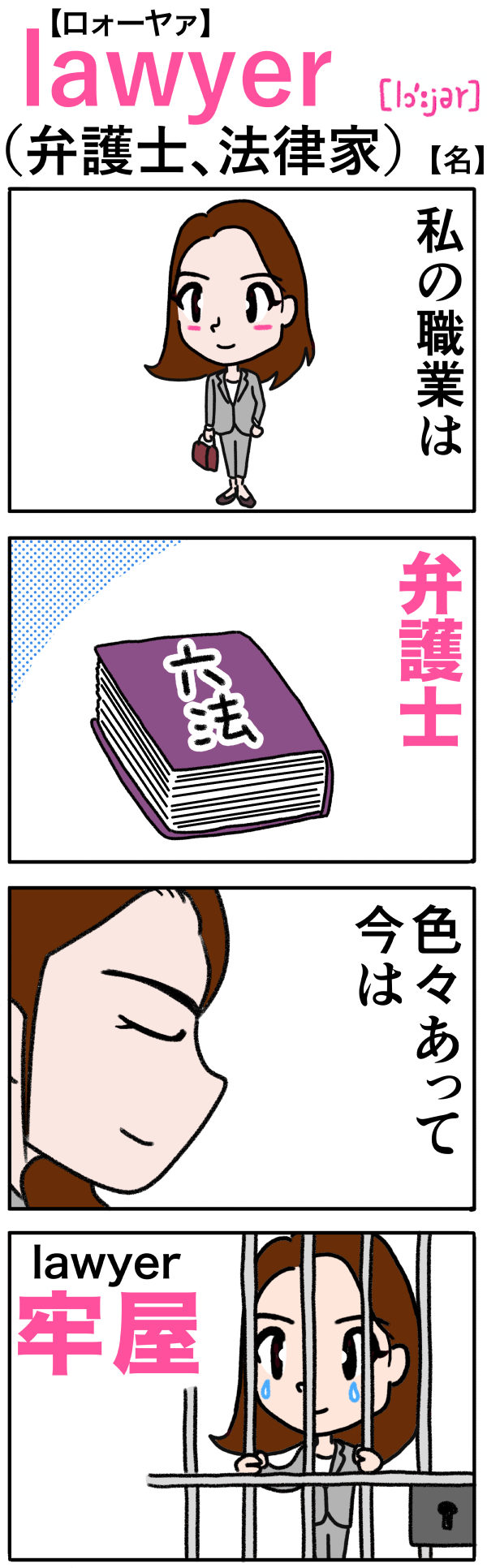 lawyer(弁護士)の語呂合わせ英単語