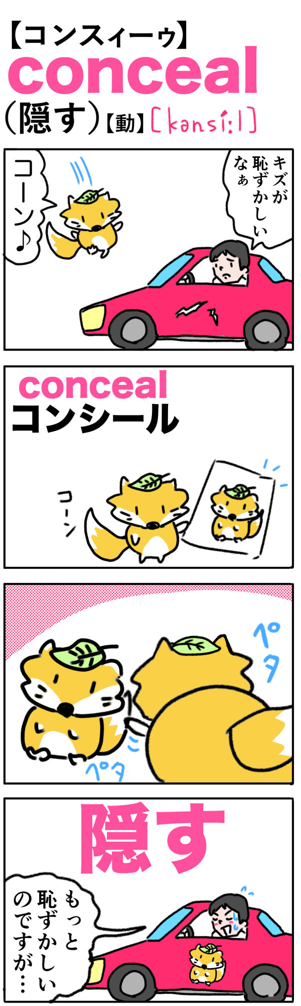 conceal(隠す)
