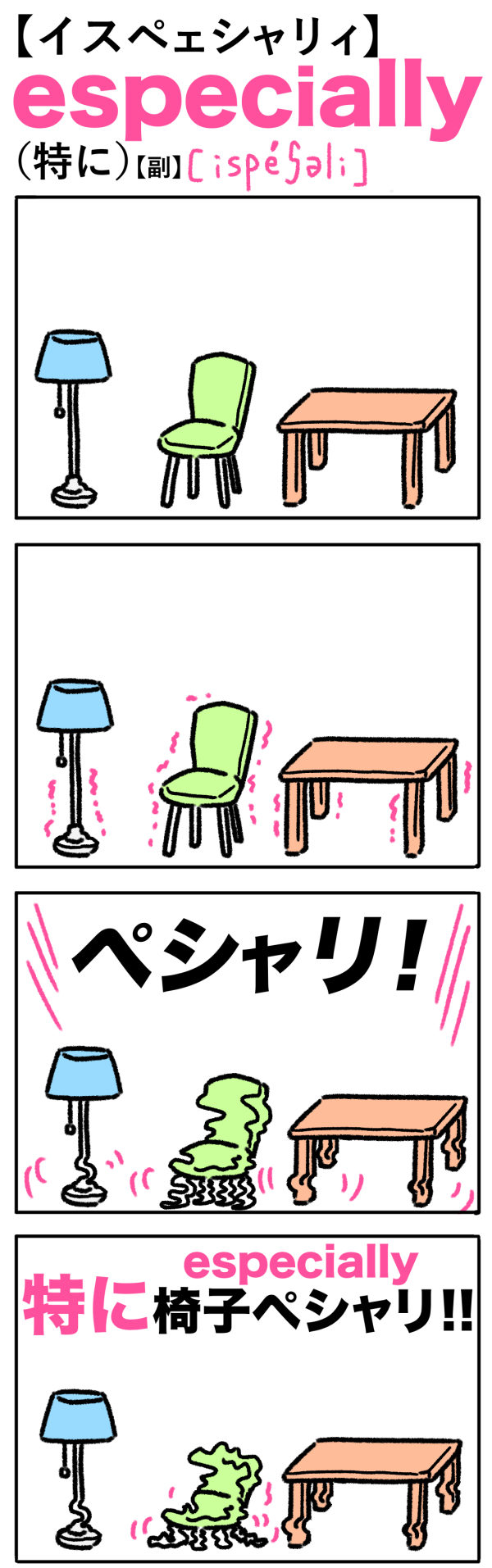 especially(特に)の語呂合わせ英単語