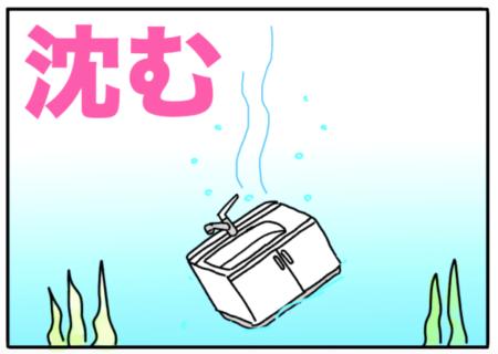 sink(沈む)