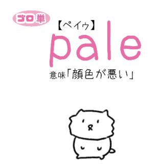 pale(顔色が悪い)