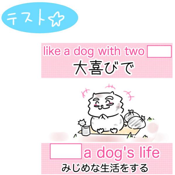 lead a dog's life 意味 みじめな生活をする