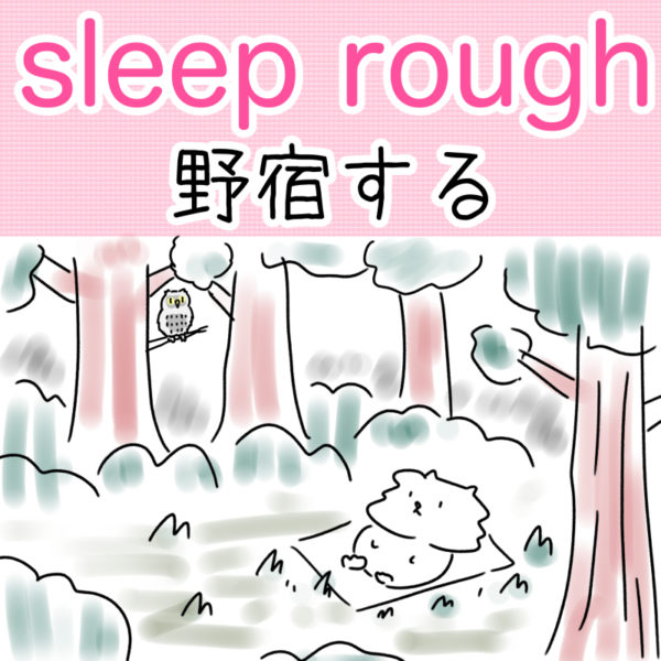 sleep rough(野宿する)の覚え方