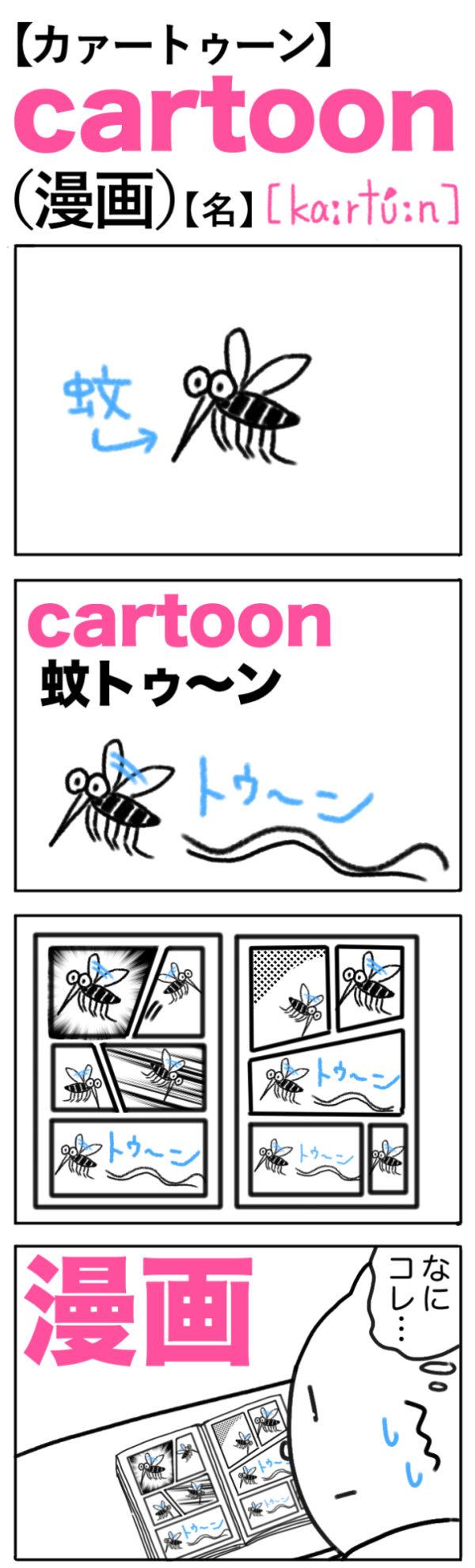 cartoon(漫画) の語呂合わせ英単語