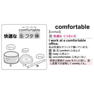 英単語の覚え方 comfortable、regulation、 colleague、consequence, lamentable(語呂合わせ)